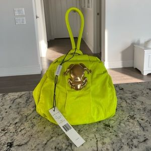 """Marc Jacobs """"Rana"""" Pouch in Acid Yellow Lime green"""